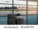 closeup group of luggage in the ... | Shutterstock . vector #501499792