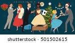 retro styled vector... | Shutterstock .eps vector #501502615