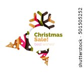 christmas geometric abstract... | Shutterstock .eps vector #501505252