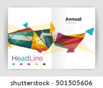 business triangle design modern ... | Shutterstock .eps vector #501505606