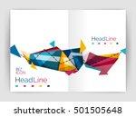business triangle design modern ... | Shutterstock .eps vector #501505648