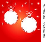 christmas card background.... | Shutterstock .eps vector #501506026