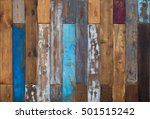 Vintage Colorful Old Wooden...
