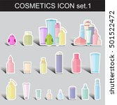 vector flat icon set. cute... | Shutterstock .eps vector #501522472