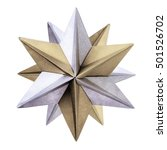 origami silver bronze star   Shutterstock . vector #501526702