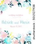 Watercolor Floral Wedding...