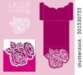 vector die laser cut envelope... | Shutterstock .eps vector #501530755