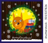 christmas illustration with... | Shutterstock .eps vector #501537826