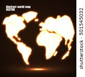 abstract glowing world map.... | Shutterstock .eps vector #501545032
