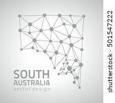south australia vector grey... | Shutterstock .eps vector #501547222