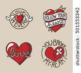 set of love related icons  with ... | Shutterstock .eps vector #501553342