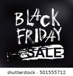 black friday sale handmade... | Shutterstock .eps vector #501555712
