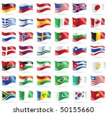 set of flags. glossy buttons.... | Shutterstock .eps vector #50155660