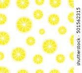 lemons seamless pattern | Shutterstock .eps vector #501562315