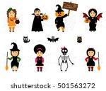 vector set for halloween in... | Shutterstock .eps vector #501563272