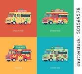 set of flat food truck... | Shutterstock .eps vector #501569578
