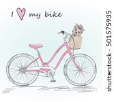 bicycle with a basket full of... | Shutterstock .eps vector #501575935