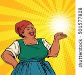 retro woman african american... | Shutterstock .eps vector #501577828