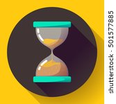 old vintage hourglass icon flat ... | Shutterstock .eps vector #501577885