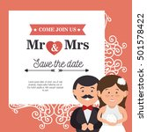 wedding invitation card icon | Shutterstock .eps vector #501578422