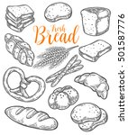 Bread Vector Hand Drawn Set...