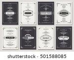 monogram creative cards... | Shutterstock .eps vector #501588085