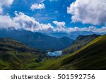 lake seealpsee in the mountain... | Shutterstock . vector #501592756