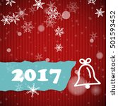 red striped new year 2017 card... | Shutterstock .eps vector #501593452