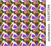 abstract ethnic vector seamless ... | Shutterstock .eps vector #501597298