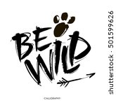 be wild card. hand drawn... | Shutterstock .eps vector #501599626