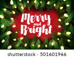 merry and bright christmas... | Shutterstock .eps vector #501601966