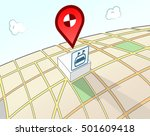 sports area 3d location sign | Shutterstock .eps vector #501609418
