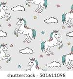 unicorns seamless pattern.... | Shutterstock .eps vector #501611098