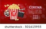 movie film banner design...   Shutterstock .eps vector #501615955