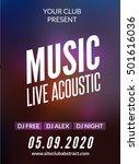 live music acoustic poster... | Shutterstock .eps vector #501616036