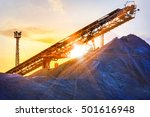 gravel pit with an industrial... | Shutterstock . vector #501616948