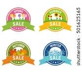 seasonal sale buttons | Shutterstock .eps vector #501625165