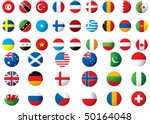 circular flags of the world on... | Shutterstock . vector #50164048