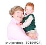 Grandmother Holding A Happy...