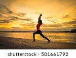 Healthy Woman Doing Yoga...