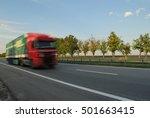 speeding truck | Shutterstock . vector #501663415