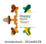 christmas and new year sale... | Shutterstock .eps vector #501668158