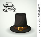 hat of thanks given design | Shutterstock .eps vector #501676426