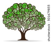 swirl green tree  vector... | Shutterstock .eps vector #501679855