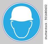 the sign of wear safety helmet    Shutterstock .eps vector #501680602