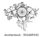 black and white hand drawn... | Shutterstock .eps vector #501689242