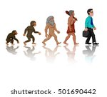 concept of human evolution from ... | Shutterstock .eps vector #501690442