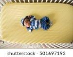 aerial view of newborn baby boy ... | Shutterstock . vector #501697192