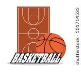ball and league of basketball... | Shutterstock .eps vector #501714532