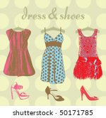 woman dress and shoes | Shutterstock .eps vector #50171785